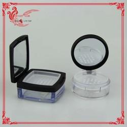 round black loose powder compact case