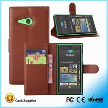 HOT flip cover case for nokia lumia 730, wallet stand case for nokia lumia 735