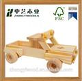 Melhor- vendedor inacabada diy handmade crianças grosso de madeira do brinquedo do caminhão