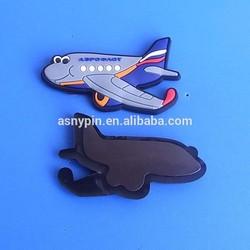 airplane cutting shape soft magnet fridge magnet