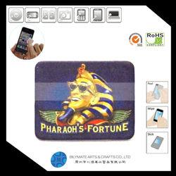 Portrait printing adhesive microfiber mobile phone screen cleaner