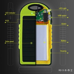 Solar usb charger 5000mah new product on market