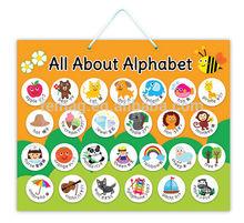 E1003 2015 new item kids learning educational magnetic alphabet chart