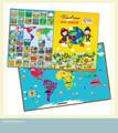 E1010 2015 miúdos novos itens de aprendizagem magnético educacional puzzele mapa do mundo