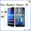alibaba expreso de fábrica precio al por mayor venta de alta calidad Huawei Honor 3X accesorios de telefonía móvil protector de la pantalla de vidrio templado