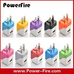 Portable folding plug wall charger for mobile phone