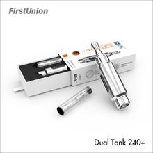 Private label vaporizer pen dual tank 240+ mixed flavor vape pen vaporizer