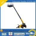 Logística máquinas XCMG equipamento de elevação 13.7 m telescópica Handler XT670-140