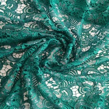 green color 2105 bridal lace fabric wholesale fabric