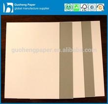 230g/250g/300g/350g/400g/450g grey back duplex board/coated duplex board paper