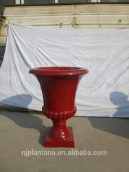 glazed color urns fiberglass urns glossy red color indoor urns