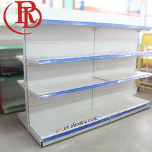 costco steel shelving supermarket pop 3 shelf rack with handle