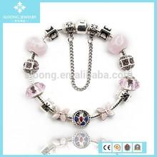 Fancy Tree 925 Silver Glass Beads DIY Bracelet Jewel Wholesale 2015