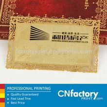 Professional impression laser cut métal carte de visite manufacture
