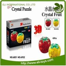 blocco di cristallo frutta giocattolo di plastica flash frutta cachi per il capretto