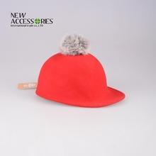 children's red riding wool felt hat