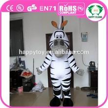 HI CE 2015 new products hot sale funny zebra horse mascot costume