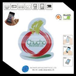 customized-shape adhesive microfiber mobile phone screen cleaner