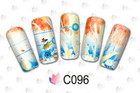 For Romantic Valentine's Day Beautiful Cartoon World Water Transfer Nail Sticker Nail Decals