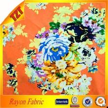2015 rayon fabric printed pattern viscose prints fabric textile