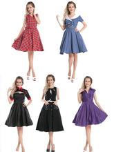 2014 NEW VINTAGE 1950'S ROCKABILLY GOTH POLKA DOT PARTY PROM FORMAL EVENING DRESS