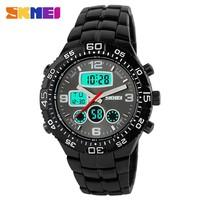 Skmei Fashion Casual Brand Men's Wristwatches Stainless Steel LED Digital Quartz Waterproof Watch Men Sports Watches