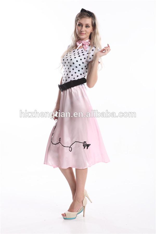 carnevale walson walson pink ladies 50s grasso xxl costume più sizefancy abito
