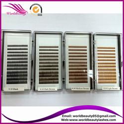 eyebrow extension, 0.10, 0.15, 5-6-7mm,black, dark brown, medium brown, light brown, customized logo package