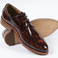 DMHGoodyear Welted Genuine Leather Shined Lace-up Men Business Shoes Luxury Brand Men Shoes Classic Men Oxfords