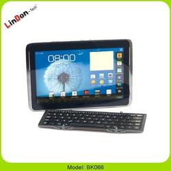 Mini Folding Keyboard Case, Tri-fold Aluminum Bluetooth Wireless Keyboard, Mini Folding Wireless Keyboard