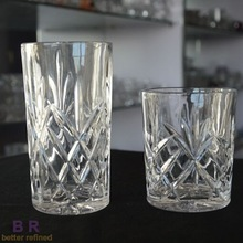 100% lead free old fashioned crystal glass
