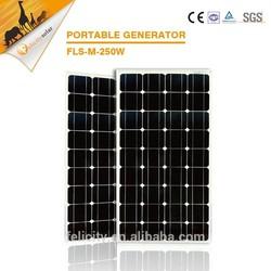 Environmental CE SGS certificate 250w monocrystalline solar panel