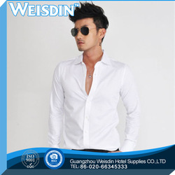 cheap price cotton/polyester Eco-Friendly 100% cotton dotted shirt
