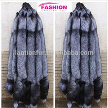 Natural sliver fox fur skin / wholesale fox skin price