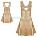 2015 di alta qualità competitivo abito benda prezzo migliore Golden cinghie abito da sera