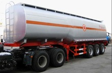 Hot sale diesel fuel tanker semi trailer 5000L fuel tank semi trailer