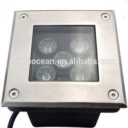 5 W 100% waterproof squar led drive over lights floor lig for yard, garden,deck from 5 years dongguan simu lighting factory