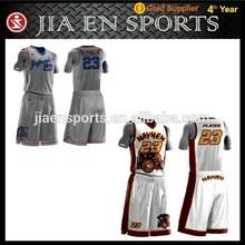 Polyester custom design sublimation basketball uniform/basketball jersey/basketball wear