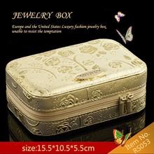 Travel size Leather Fashion Jewelry Box Organizer Jewelry Travel Case
