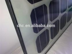 High Efficinency transperent Solar Panel or BIPV 50W to 400W