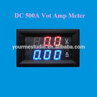 Best Seller Red+Blue Dual Led Digital 500A Combo DC Amp Volt Panel Meter Without Shunt