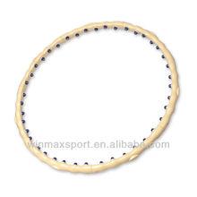 Winmax brand low price magnetic massage hula hoop,fitness lose weight slimming folding hula hoop
