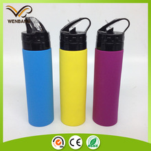 650ml 100%food grade silicone foldable water bottle
