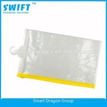 2015 Cloth Packing With Hook Big And Small Zipper Lock Pvc Eva Soft Plastic Bag