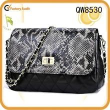 Wholesale popular serpentinite genuine leather bag Evening bag women bag