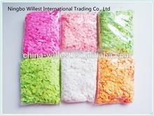 Small round shape paper confetti, colorful tissue confetti, party wedding confetti