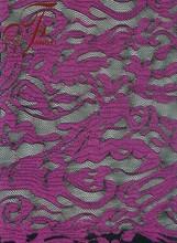 Latest Nylon Spandex Viscose Purple Lace Fabric For Dress