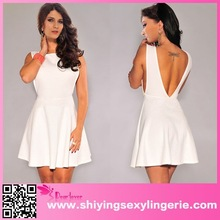 China Wholesale White Textured Open Sides Skater sexy galleries girls mini skirt mini dress