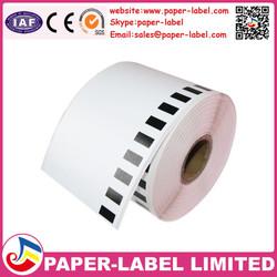 Adhesive sticker type and thermal paper material 62mm*30.48m QL printer ribbon dk-22205