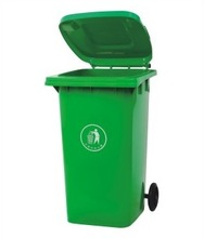 Outdoor dustbin 240L Plastic garbage dustbin for outdoor waste